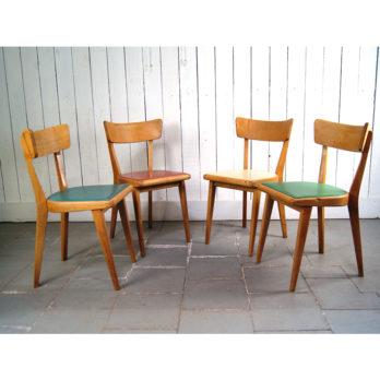 Série de 4 chaises 50's
