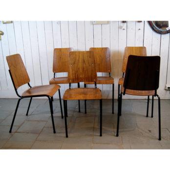Set de 6 chaises industrielles (B)