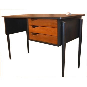 Bureau noir (tiroirs)