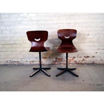 Double banc d'écolier avec chaises