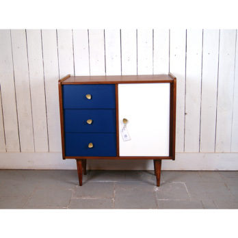 Commode  (blanc/bleu)