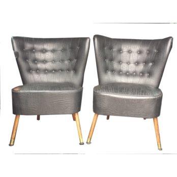 """Paire de fauteuils cocktail """"croco"""""""