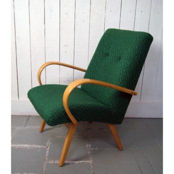 Paire de fauteuils verts