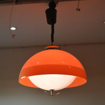 Luminaire orange/blanc