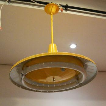 Luminaire néon circulaire (jaune)
