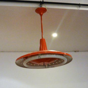 Luminaire néon circulaire (orange)