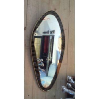 Grand miroir forme libre (noir/or)