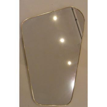 Miroir forme libre (doré+noir)