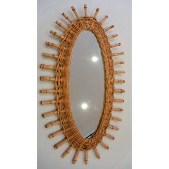 Miroir rotin (œil)