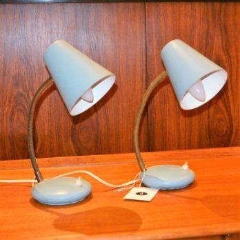 Paire de lampes (bleu/gris clair)
