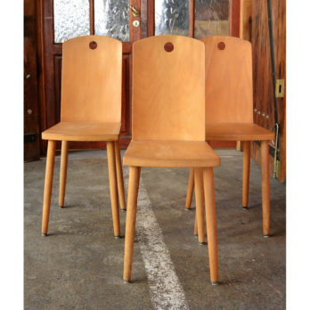 Chaise bois brut