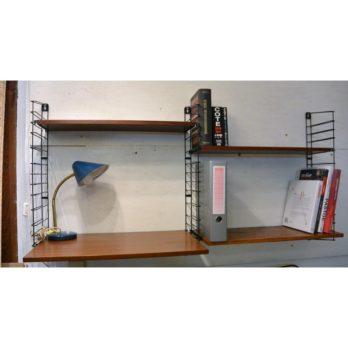 Double étagère Tomado avec bureau (bois)